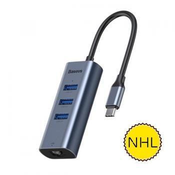 Baseus CAHUBM0G Thưởng thức Bộ chuyển đổi HUB Cổng USBC / TypeC sang USB 3.0 x 3