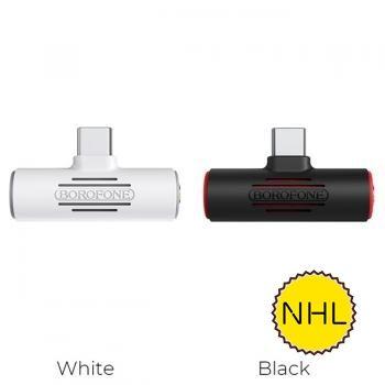 Bộ Chuyển Đổi Âm Thanh Borofone BV8 - USB-C sang USB-C & jack 3,5mm