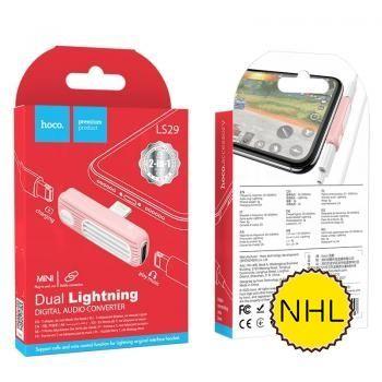 Bộ chuyển đổi âm thanh kép Lightning Hoco LS29