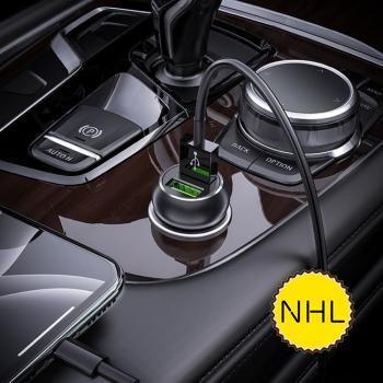 Bộ sạc xe hơi Hoco Z37 - Cổng đôi QC3.0