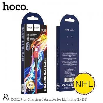Cáp sạc Hoco DU02 lightning 2m*