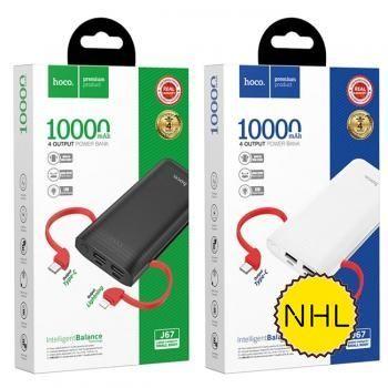 Pin sạc dự phòng Hoco J67 - 10.000mAh (Có cáp tích hợp)