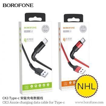 Dây Cáp Sạc Nhanh Typec Borofone CK3