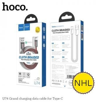 Cáp sạc nhanh Hoco U74 Typec 1.2m 2.4A