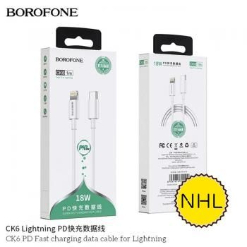 Cáp Sạc Nhanh Borofone CK6 Lightning - PD 18W