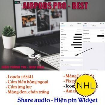 Airpods Pro Louda 1536u hồng ngoại check setting