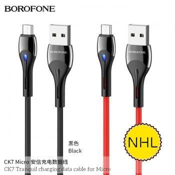 Dây Cáp Sạc Nhanh Micro Borofone CK7