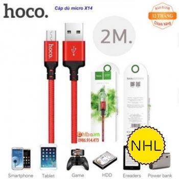 Dây Cáp Sạc Nhanh Micro Hoco X14 2m