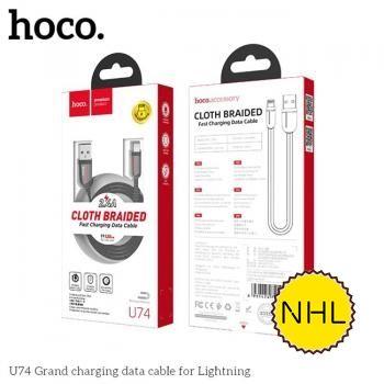 Cáp sạc nhanh Hoco U74 Lighning 1.2m 2.4A