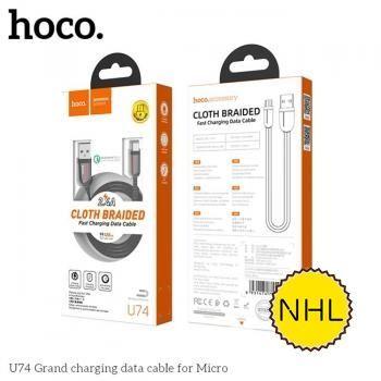 Cáp sạc nhanh Hoco U74 Micro 1.2m 2.4A