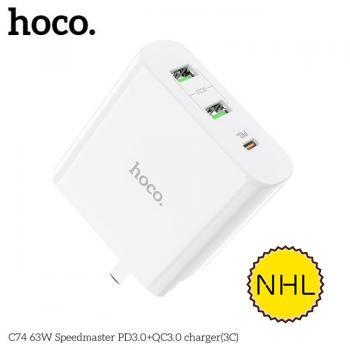 Củ sạc Hoco C74 63W 3C PD3.0 + QC3.0