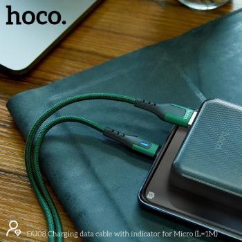 Dây Cáp Sạc Nhanh Samsung Hoco DU08 Có báo đèn