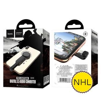Jack chuyển đổi Hoco LS23 - Lightning to Lightning, 3.5mm có móc iring