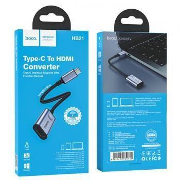 Bộ chuyển đổi Hoco HB21 Type-C sang HDMI