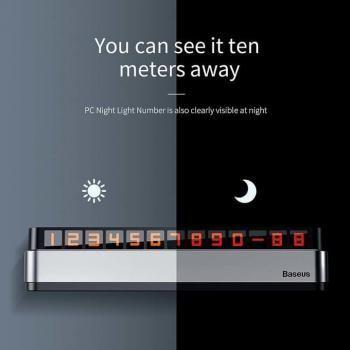 Biển số điện thoại phát quang Baseus ACNUM-B