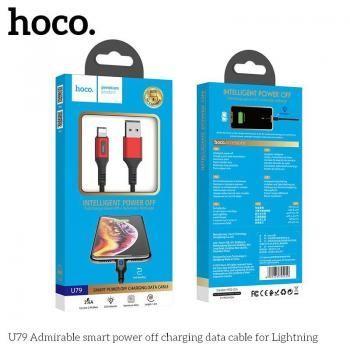 Cáp sạc tự ngắt Hoco U79 Lightning 1.2m 2.4A