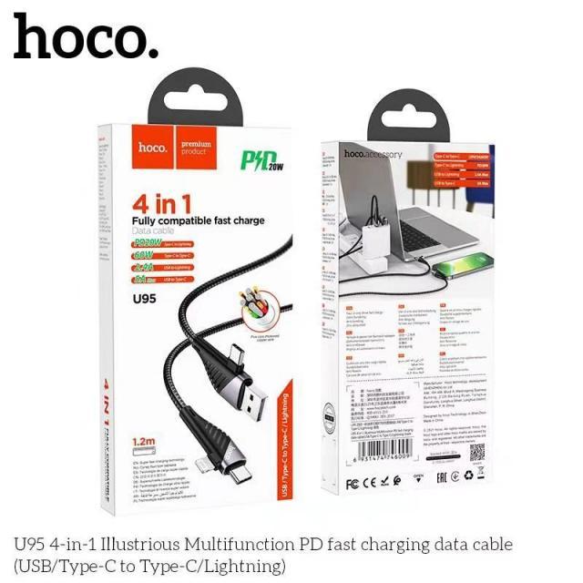 Cáp sạc 4 đầu Hoco U95