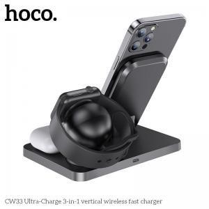 Đế sạc nhanh không dây Hoco CW33 15w
