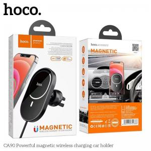 Giá đỡ điện thoại kiêm sạc ô tô Hoco CA90