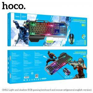Bộ Bàn Phím Chuột Gaming Hoco GM12 có led RGB