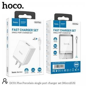 Bộ sạc lightning Hoco DC01 plus