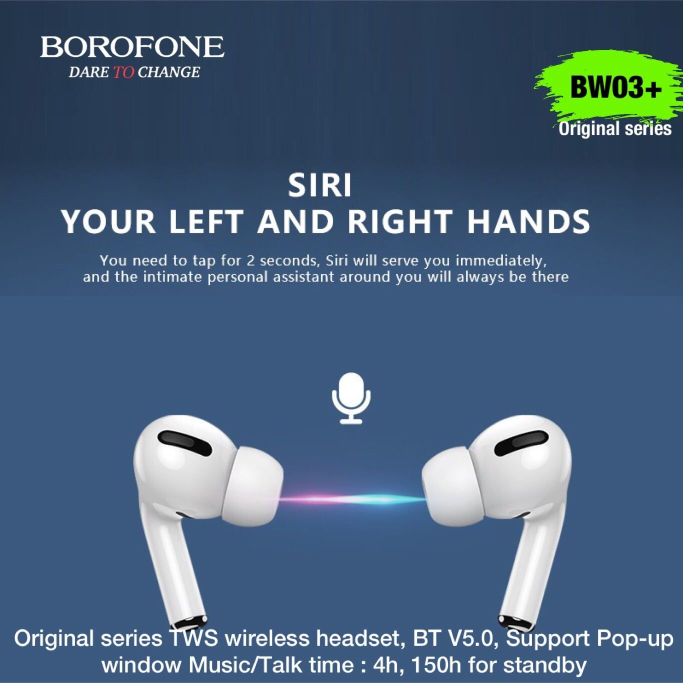 Tai nghe Bluetooth TWS Borofone BW03