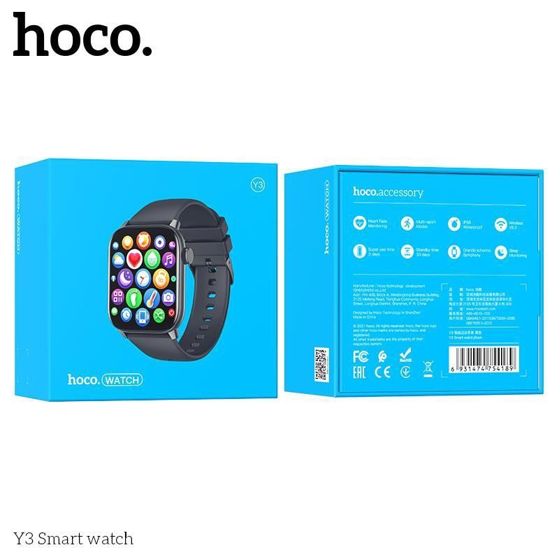 Đồng Hồ thông minh Smartwatch Hoco Y3