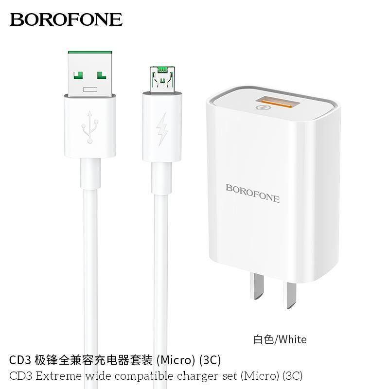 Bộ sạc Micro Borofone CD3