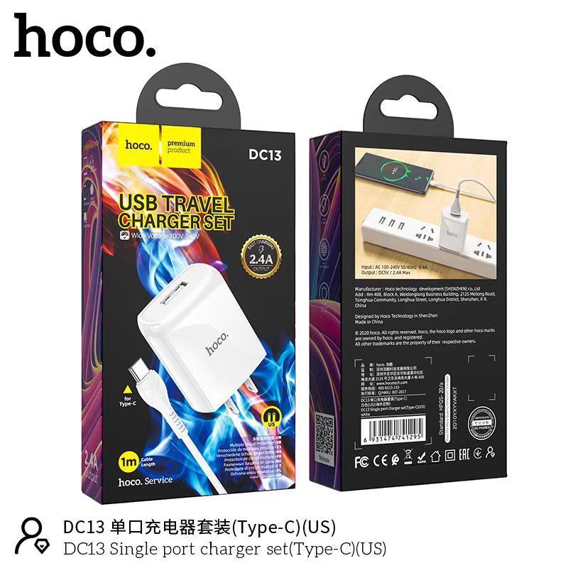 Bộ sạc Typec Hoco DC13