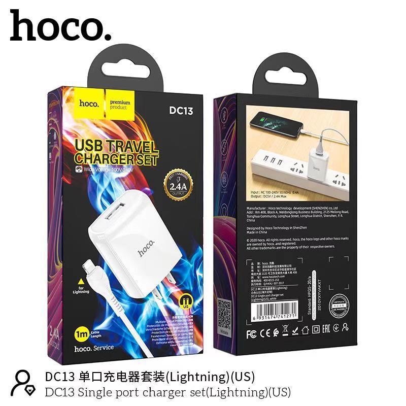 Bộ sạc Lightning Hoco DC13