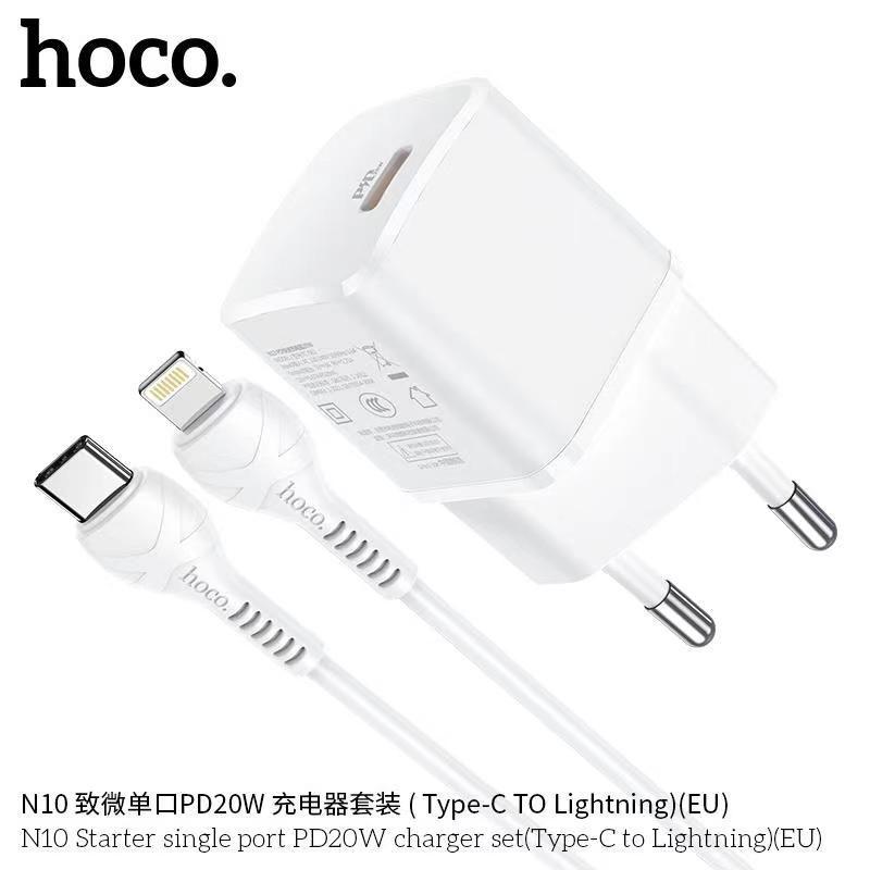 Bộ sạc Typec - Lightning Hoco N10