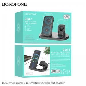 Đế sạc không dây 3in1 Borofone BQ10