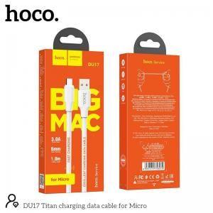 Cáp sạc nhanh Micro Hoco DU17
