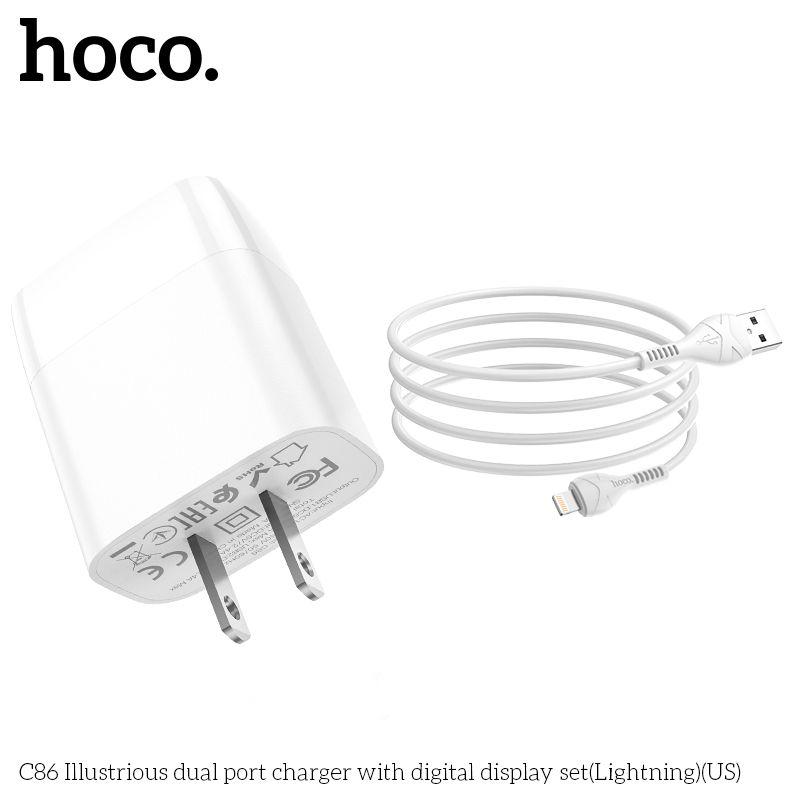 Bộ sạc Lightning Hoco C86