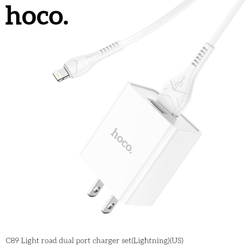 Bộ sạc Lightning Hoco C89