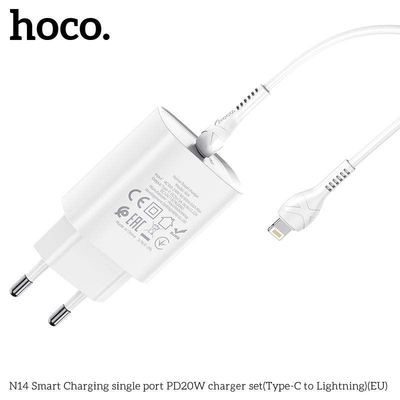 Bộ sạc Lightning Hoco N14