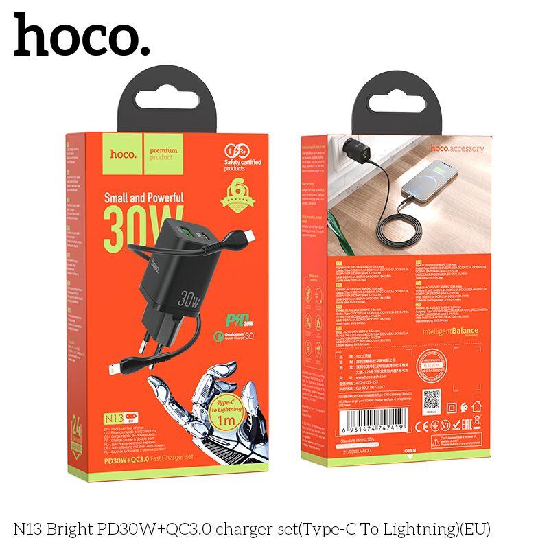 Bộ Sạc Typec - Lightning Hoco N13 30w