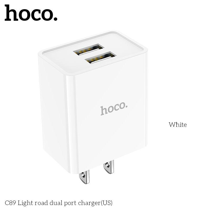 Củ Sạc Nhanh 2 cổng Hoco C89