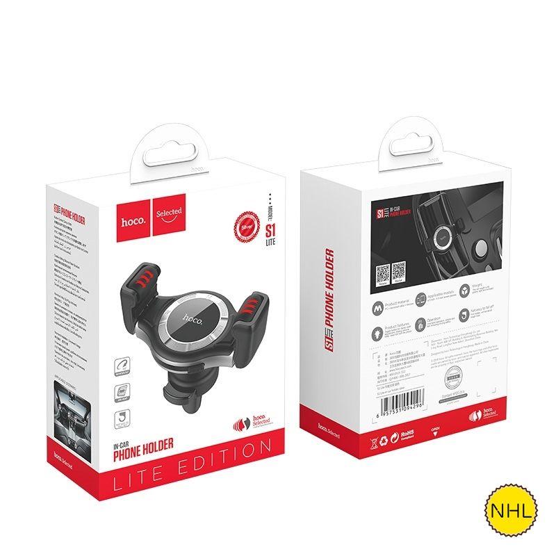 Giá đỡ điện thoại Hoco S1 LITE - Nhôm - Giá đỡ - Gắn cửa thoát khí - FreeSize