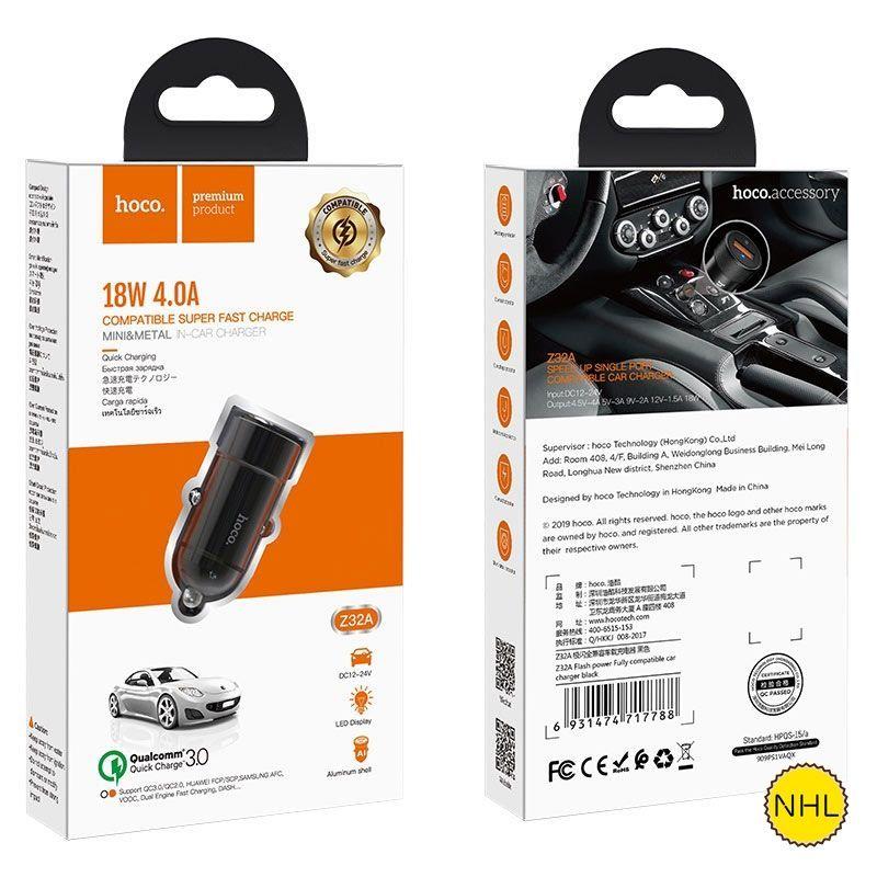Tẩu sạc ô tô Hoco Z32A