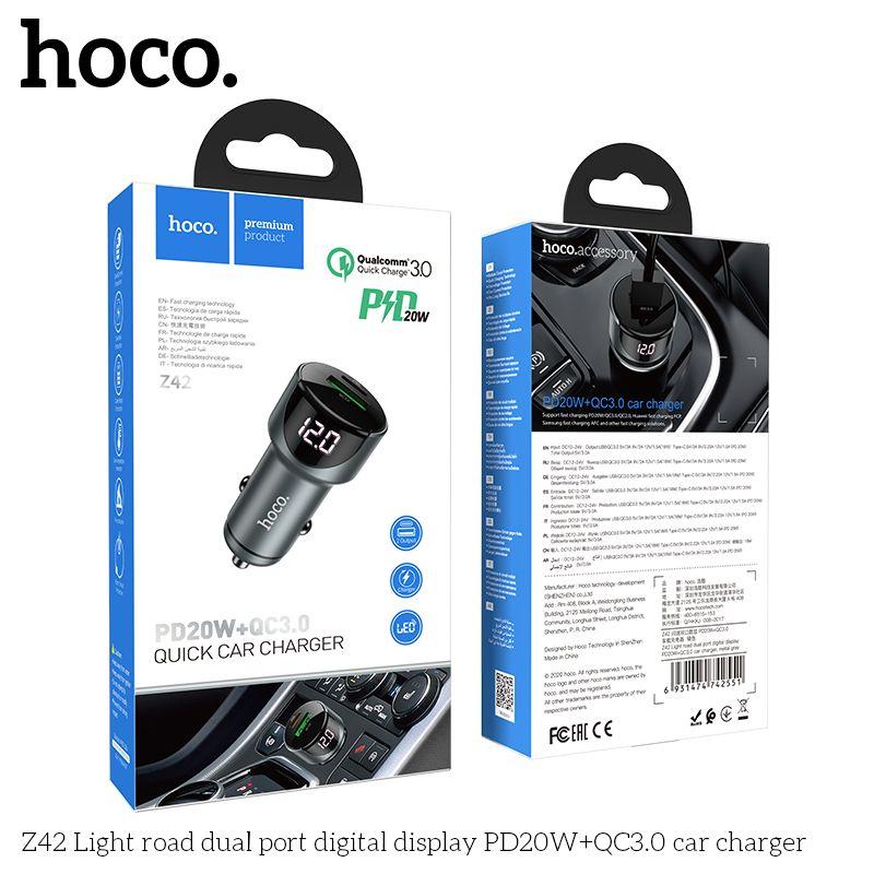 Tẩu sạc ô tô Hoco Z42
