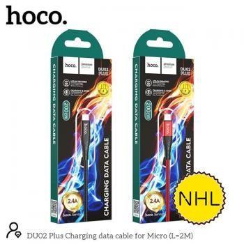 Cáp sạc nhanh Hoco DU02 Micro 2m 2.4A