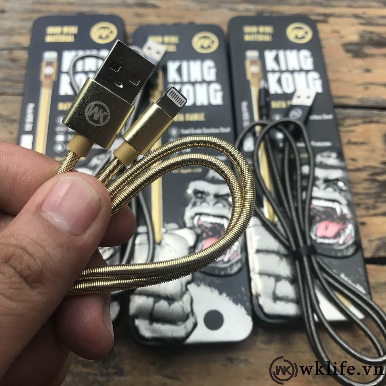 Cáp sạc iPhone hộp sắt KingKong giá buôn giá sỉ