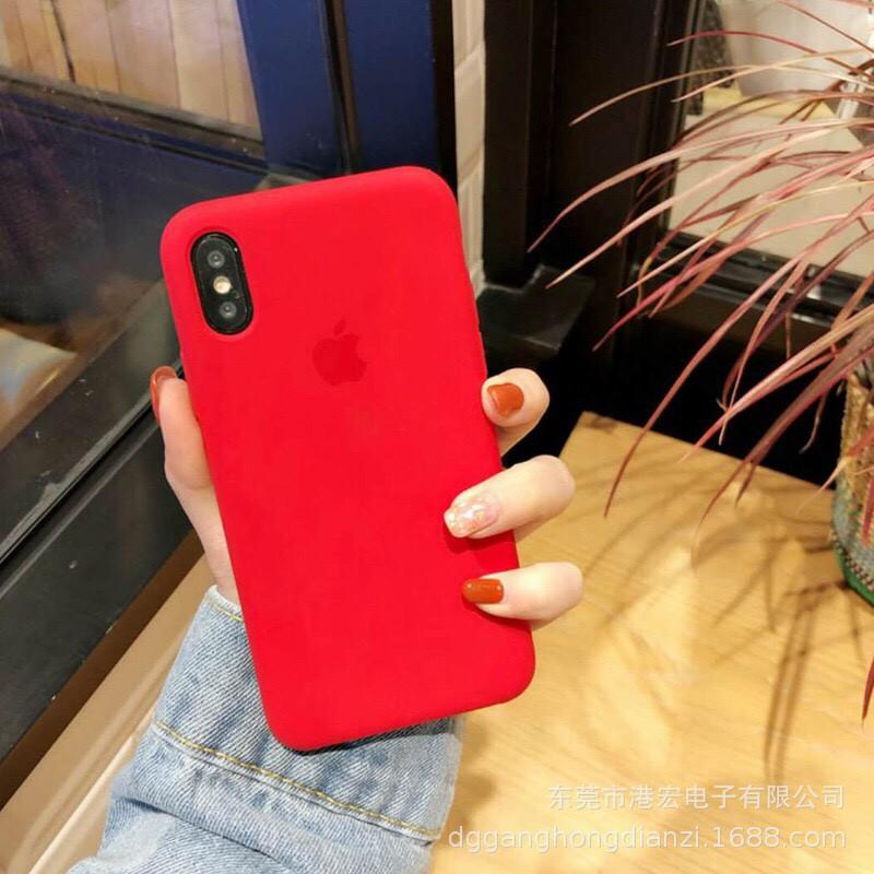 ốp iphone xs chống bẩn màu đỏ (red)