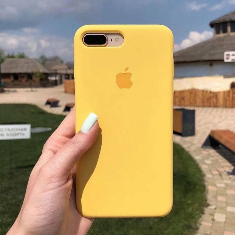 ốp lưng chống bẩn iphone 7plus màu vàng