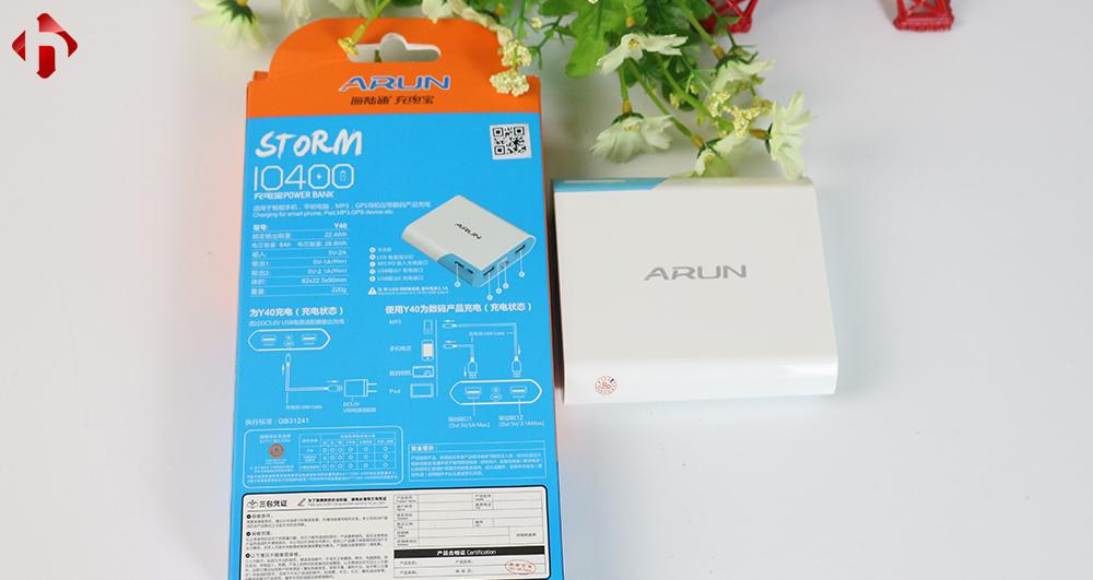 Pin sạc dự phòng Arun 5600mAh chính hãng gia buôn giá sỉ
